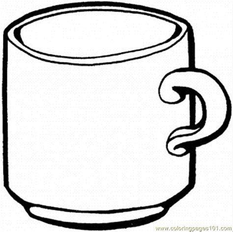 free coloring pages of cup of hot cocoa