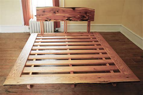 cedar bed handmade cedar oak bed by rudabega custommade