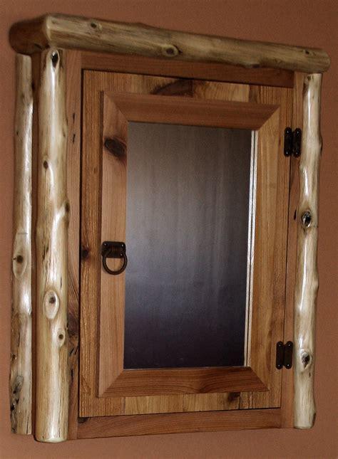 Cedar Log Reclaimed Cedar Medicine Cabinet ? Barn Wood