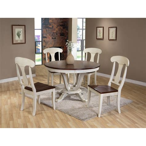 48 inch table with 5 chairs baxton studio napoleon chic country cottage antique oak