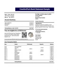 bank statement template bank statement template 14 free word pdf document