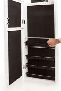 the door armoire jewelry armoire wall mount the door mirror organizer