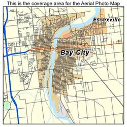 map of bay city aerial photography map of bay city mi michigan