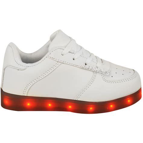 led light up shoes amazon kids girls trainers flashing led luminous lights usb