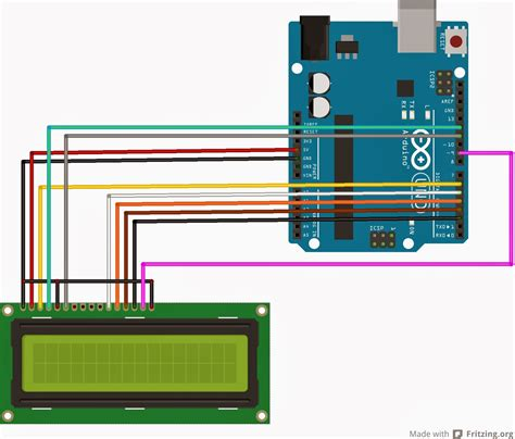 arduino code with lcd interfacing lcd without a potentiometer in arduino and ccs