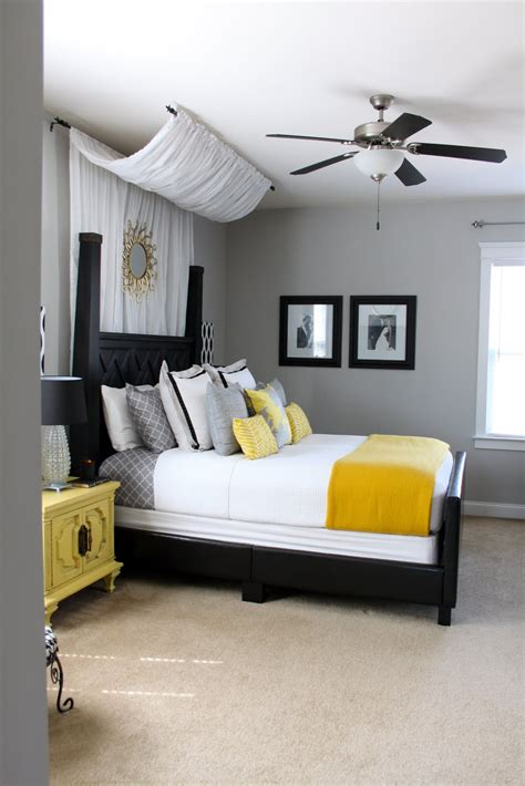 yellow and grey bedroom diy canopy master bedroom the new mrs stott
