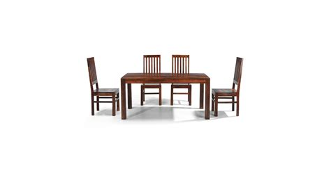 cuba sheesham 160 cm dining table and 4 chairs lifestyle