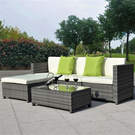 table home living outdoor garden conservatory rattan garden furniture set chairs sofa table outdoor conservatory wicker 163 269 99 picclick uk