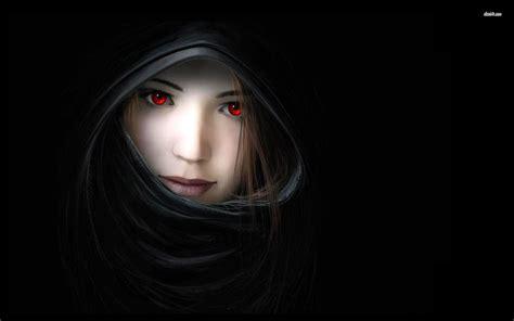 wallpaper dark girl red eyed girl in the dark wallpaper