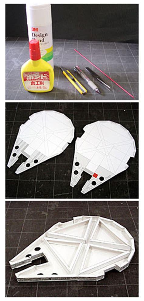 Millenium Falcon Papercraft - wars millenium falcon papercraft diy jorymon
