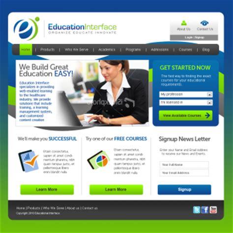 education website website web page design hiretheworld