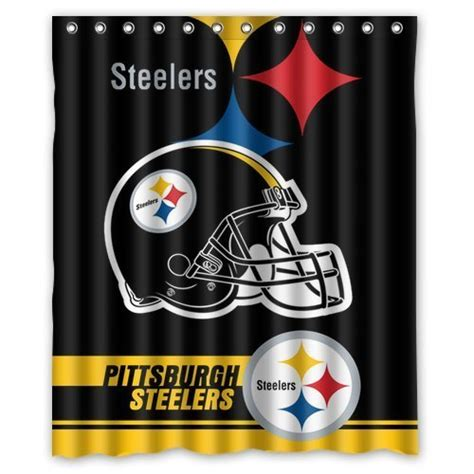 steelers bathroom steelers shower curtains pittsburgh steelers shower curtain steelers shower curtain