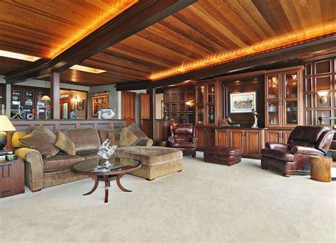 wooden plank basement ceiling basement ceiling ideas