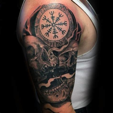 helm of awe tattoo skull amazing helm of awe golfian