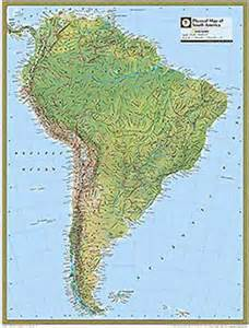 national geographic south america physical map maps