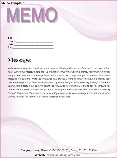 memo template download page word excel pdf