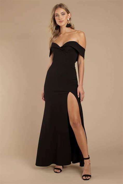 black maxi dress open shoulder maxi dress black evening dress 98 tobi us