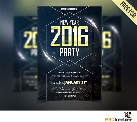 Flyer Party Psd Editables new year flyer free psd psd