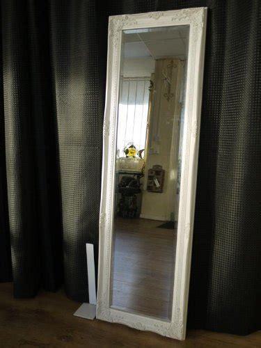 full length white shabby chic style dressing hall mirror