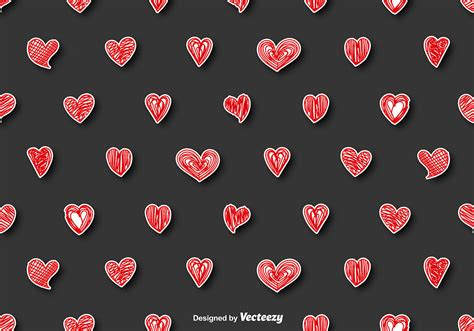 seamless heart pattern vector vector seamless pattern doodle hearts download free