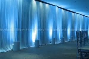 Wall Draping For Weddings White Draping Amp Blue Uplighting Gingko Room Morton