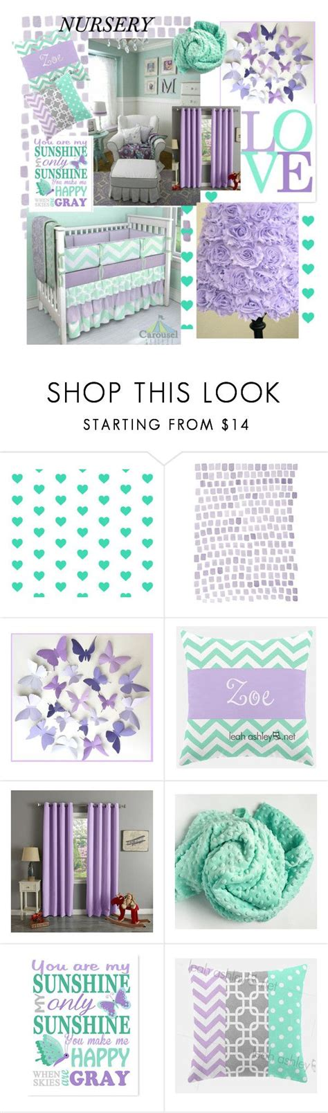 Mint Nursery Decor Quot Lilac Mint Nursery Quot By Medgurl Liked On Polyvore Featuring Interior Interiors Interior