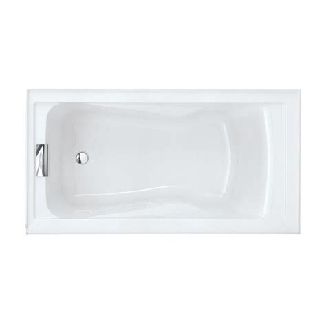 american standard acrylic bathtubs shop american standard evolution 60 in arctic acrylic alcove bathtub with left hand