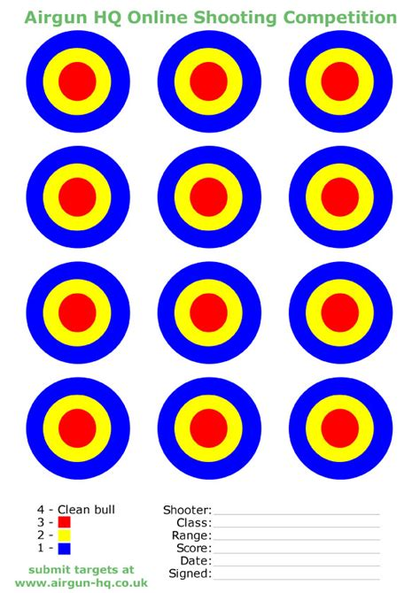 printable targets airguns air rifle target download free