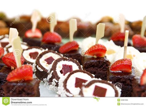 canape desserts mixed mini canapes stock image image of pastry