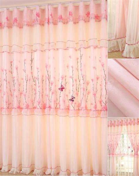 Sheer Pink Curtains Transparent Sheer Curtain And Pink Curtain