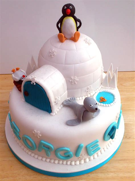 Novelty Birthday Cakes by Pingu And Friends Novelty Birthday Cake 171 Susie S Cakes