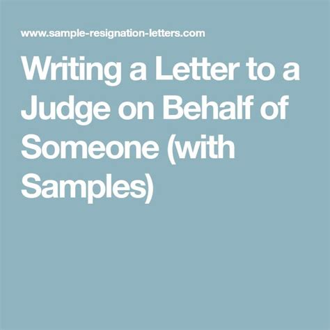 writing a letter to a judge on behalf of someone 11 best character letters images on character