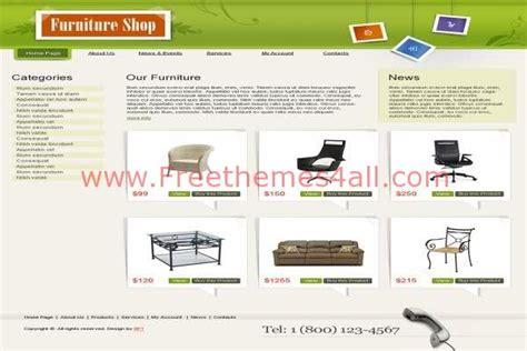 Free Html Furniture Shop Website Template Freethemes4all Furniture Shop Website Template