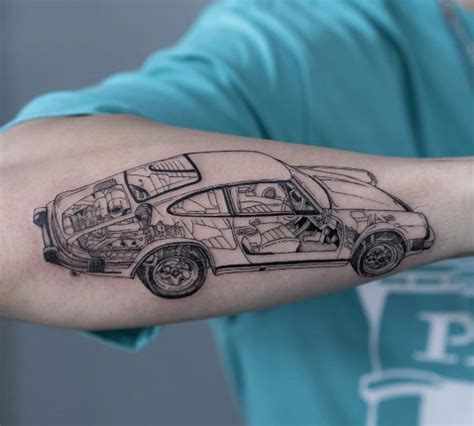 porsche tattoo designs 60 creative and unique tattoos for tattooblend
