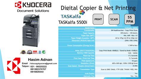 Kyocera Task Alfa 2200 Baru Murah Mesin Fotocopy kyocera fotocopy brosur spesifikasi fotocopy kyocera taskalfa 5500i mfp