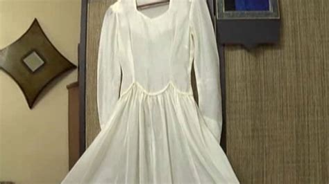 Wedding Dress Made From Saving Parachute by S Wedding Gown Made From Hubby S Wwii Parachute