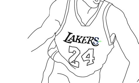 basketball drawings kobe bryant sketch coloring page