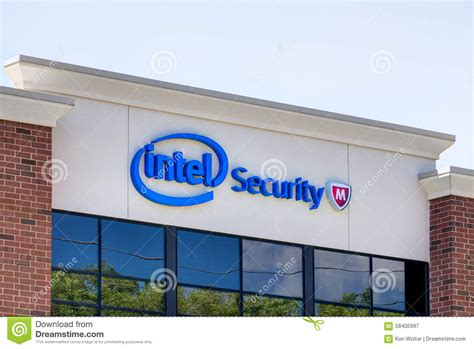 Office Supplies Roseville Mn Intel Security Office Building Editorial Photography