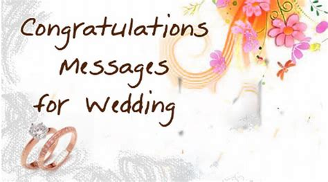 Wedding Congratulation Notes by Congratulations Messages For Wedding