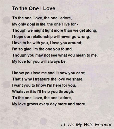 one here to the one i poem by i my forever poem