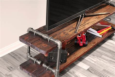 Plumbing Pipe Tv Stand by Vintage Industrial Cast Iron Pipe Table Tv Stand
