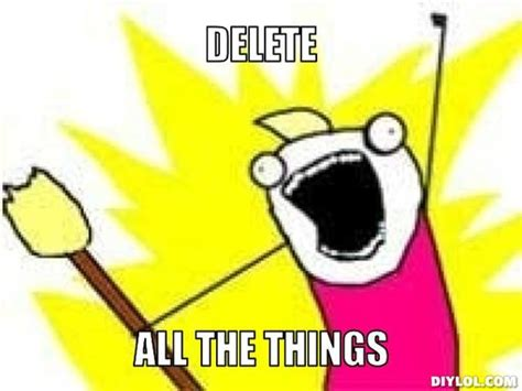 Delete Meme - podsjetnik za sve linux za sve