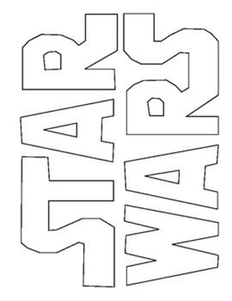 coloring pages star wars logo star wars logos star wars and coloring on pinterest