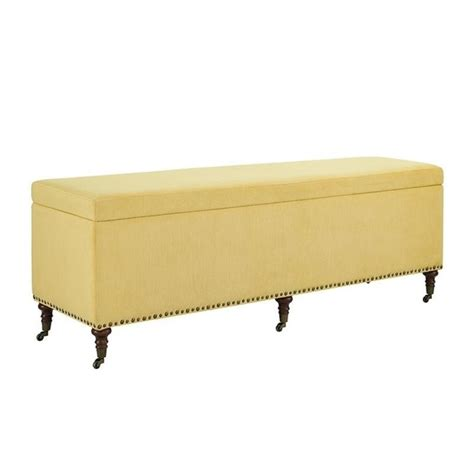 60 inch storage bench atlin designs 60 quot bedroom storage bench in yellow ad 638279