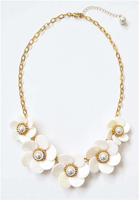 Pearl Flower Collar Necklace 68527617585608 pearl flower necklace white collar necklace with pearl floral clusters by shamelessly sparkly