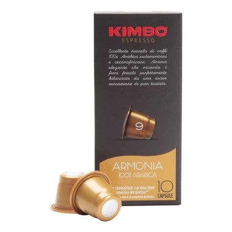 Kimbo Armonia 100% Arabica Capsules [Compatible w/ Nespresso Machines]   Espresso Zone