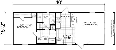 16 wide mobile home floor plans luxury bethany 16 x 40 607