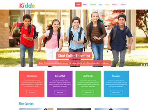e learning html templates free 22 free education html website templates templatemag