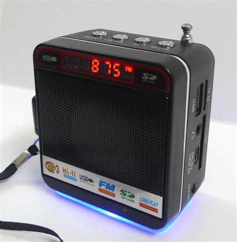 Speaker Aktif Mini Radio speakers mp3 mini speaker usb sd fm radio was sold for