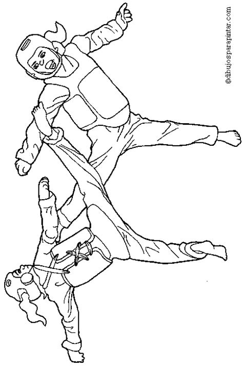 karate coloring pages for kids taekwondo pinterest